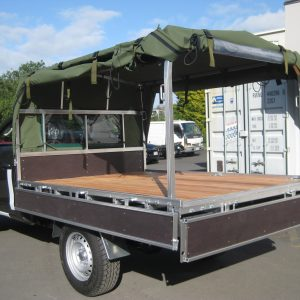 Army canopy open rear