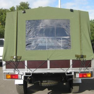 Army rear canopy down