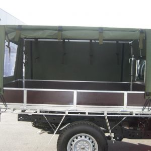 Army side with canopy opening open
